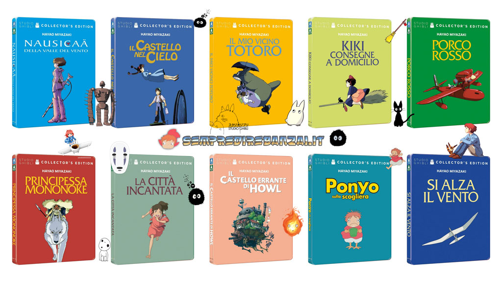 Miyazaki Steelbook Collection disponibile dall'11 novembre